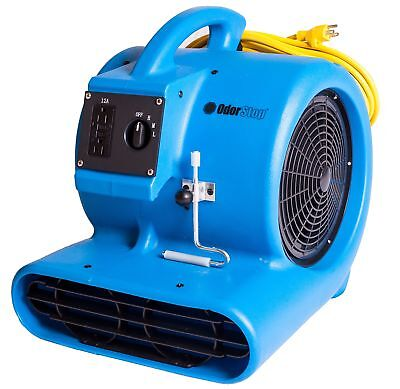 Odorstop OS2800 3/4 HP 3-Speed 1500 RPM Carpet Dryer/Air Mover