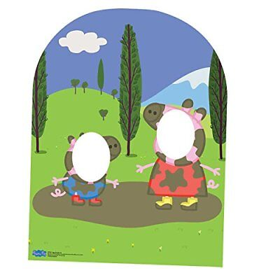"Star Cutouts SC822 ""Peppa Pig and George Muddy Puddle Child Sized Stand In"" C..."