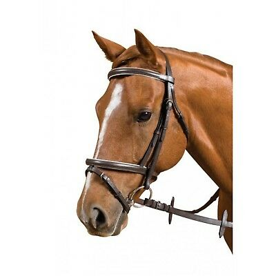 LEATHER HANOVARIAN EVENT BRIDLE by CANTA -A, pony SIZE  in black
