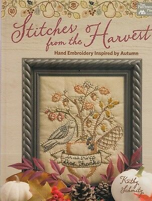 Stitches from the Harvest, hand embroidery inspired by Autumn - BOOK