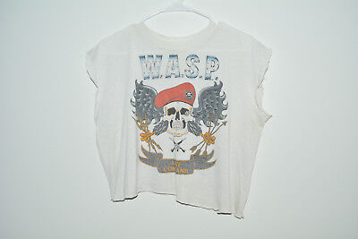 W.A.S.P. Vintage T-Shirt 1986 Large L 80s Band Metal Distressed