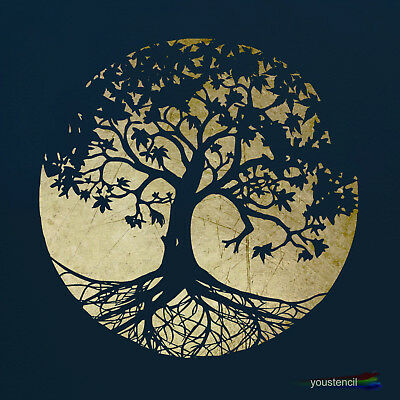 Tree  Stencil Template #3: For Decoration, Art, and Airbrushing: ST37