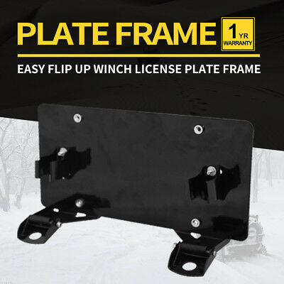 License Winch Plate Frame Bracket Roller Fairlead Heavy Duty Offroad