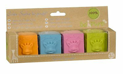 Sophie The Giraffe So Pure Natural Rubber Cubes (Multicoloured)