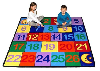 Learning Carpets CPR 763 Learning Carpets Colorful 1 - 26 Number Grid
