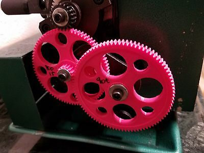 mini lathe change gear reduction for power feed 20/80/15/90 for smoother finish