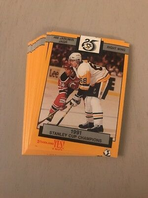 1991-92 Pittsburgh Penguins Foodland Team Set Of 15 Cards - Mint!