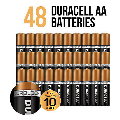 Genuine Duracell Bulk AA Size Alkaline Batteries Lock Power 48PK Expiry 2028