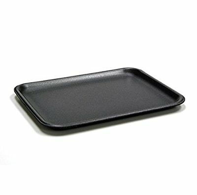 CKF 4SB, #4S Black Foam Meat Trays, 100-Piece Bundle