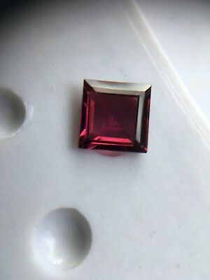 Rhodolite Garnet- 5.1 mm SQUARE- Good Medium Colour- Shallow  Cut- Loose-NEW