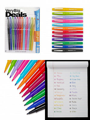 Paper Mate 74423 Flair Felt Tip Pens, Medium Point, Assorted Colors, 12-Count