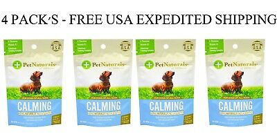 4 PACK'S - Pet Naturals of Vermont, Calming, For Dogs, 30 Chews, 1.59 oz (45 g)