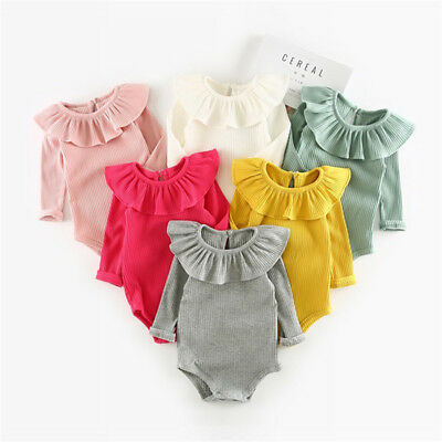 Girl Knitted Romper Newborn Baby Clothes Girls Long Sleeve Jumpsuit Kids Outfit