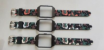 Sony SmartWatch 3 SWR50 Black Housing (Adapter) & Camouflage Silicon Strap