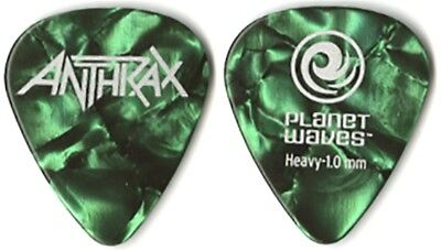 Anthrax authentic 2011 tour Planet Waves green pearl collectible Guitar Pick