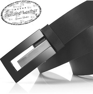 Bnwt Genuine  Black Leather  Designer Mens Dress Business  Belt Rrp $59.95