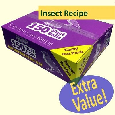 150 'Suet To Go' Suet Balls (90g) INSECT Flavour