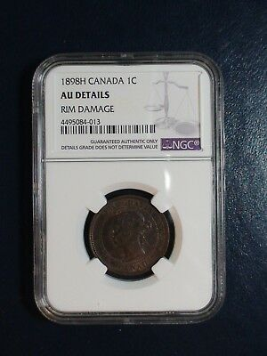 1898H Canada LARGE CENT NGC AU Details 1C Coin PRICED TO SELL NOW!