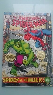 Amazing Spiderman # 119  Vs  The Incredible Hulk  Vf+  Pence  1973