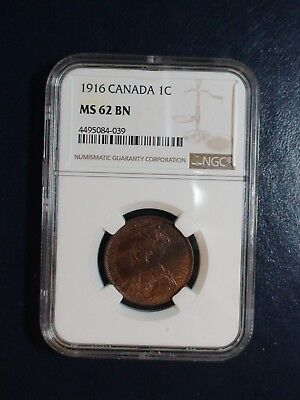 1916 Canada LARGE CENT NGC MS62 BN UNCIRCULATED 1C Coin PRICED TO SELL NOW!