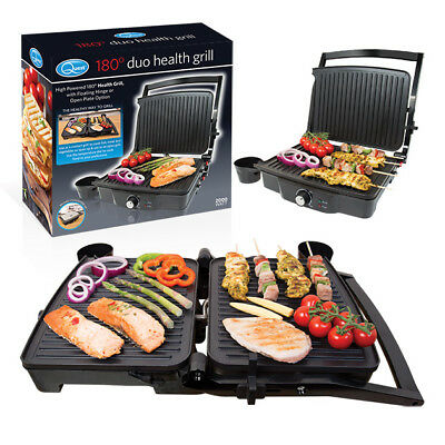 Healthy Food Grill Panini Press Duo Open Flat Plate Family Fat Reducing NonStick