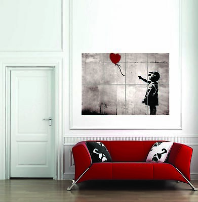 Banksy's Girl With A Balloon Giant Poster Art Print