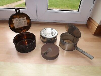 Very Rare Victorian Tin & Brass Sirram Travelling Stove Cooking Set c1890