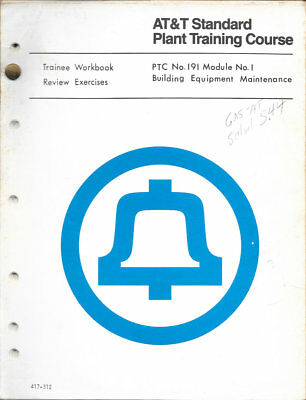 Bell Telephone New Jersey PTC 191 AT&T Plant Training Course Repair Run Fix ATT