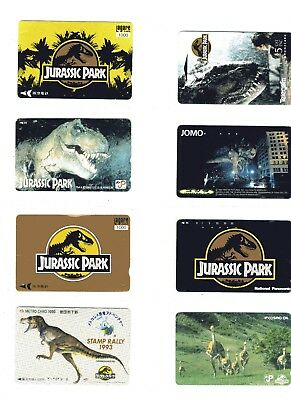 12 phone cards of JURASSIC PARK (mainly Asian)