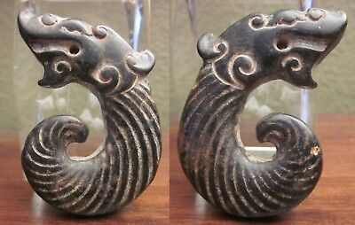 """Antique Neolithic Carved amulet """"Dragon"""" 2000-2500 BC"""