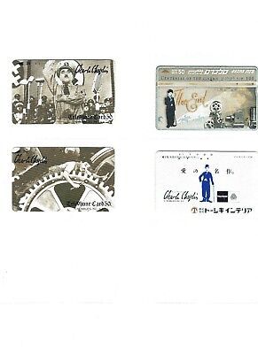 4 phone cards of CHARLIE CHAPLIN (mainly Asian)