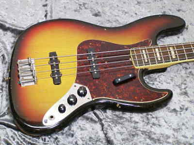 1972 Fender Jazz Bass '72 SB/R Electric Bass Free Shipping w/HC B388