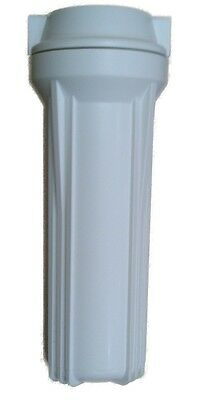 """10"""" Filter Housing, White, 1/4"""" Ports, for under sink filters / reverse osmosis"""