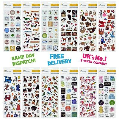 Fun Stickers Children Birthday Party Loot Bag Fillers Kids Decorating New Design