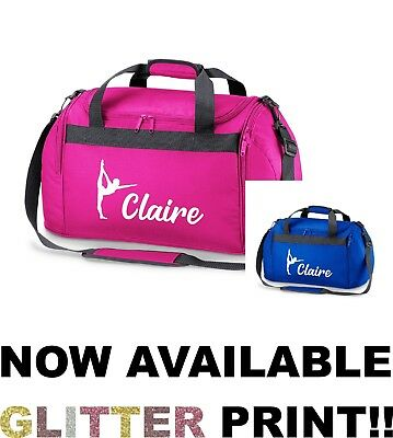 Personalised Name Gymnast Sports Holdall Bag School Dance Girls Gymnastics Gym