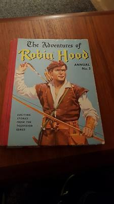 Vintage The Adventures of Robin Hood Annual No.3 - 1958 - Exellent Condition