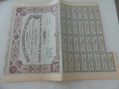 Societe Des Charbonnages De Nikitowa/ Action De 500 Francs 1901