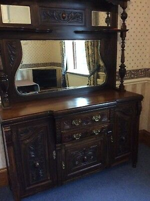 Victorian/Edwardian Mirror backed dresser