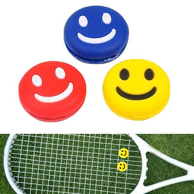 Silicone Smiley Happy Face Tennis Racquet Dampener Vibration Useful Absorber AU