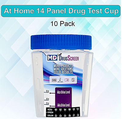 14 Panel At Home Drug Test Kit  -(10 Pack) Urine Drug Test Cup - Free Shipping!