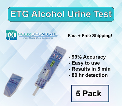 ETG at home Dip Test (5 Pack) -Alcohol Dip Card Detects 80 hrs - Free Shipping!