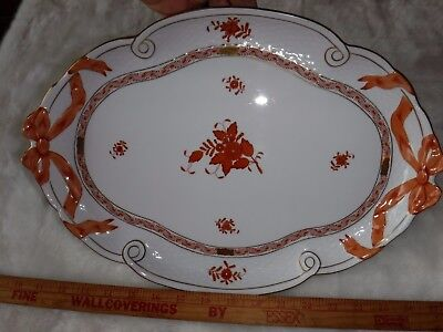 Herend #400 AOG CHINESE BOUQUET RUST BowTie; Large Serving Platter; Hungary