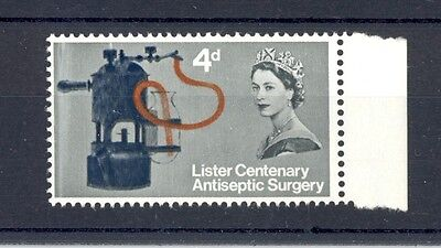 GB 1965 Lister 4d Ord, SG 667 with doctor blade flaw, MNH