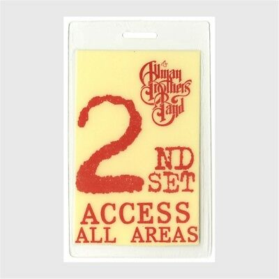 Allman Brothers authentic 1995 concert Laminated Backstage Pass second set tour