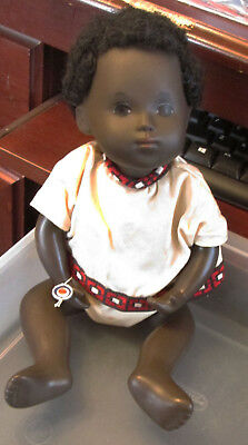 Old Vintage Black African Sasha Doll Baby W Orig Outfit W Wrist Tag England