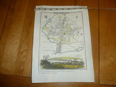 1807 NORTHAMPTON town MAP - 1971 reprint of the Map of this town