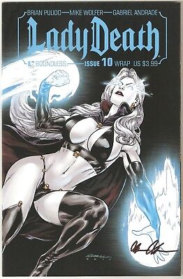 Lady Death 10. Wrap Edition. Signed & Certified. Boundless.