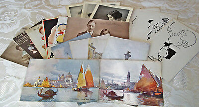Job Lot of Vintage Mixed Postcards x 25 – 1930 – 1940