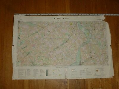 CROWLANDS FENS - Land Use Map - 1:25000 - (Please see Photo's for Size)