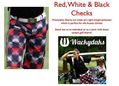 Wackydaks Red Checks Loud Golf Shorts (BNWT) RRP$79